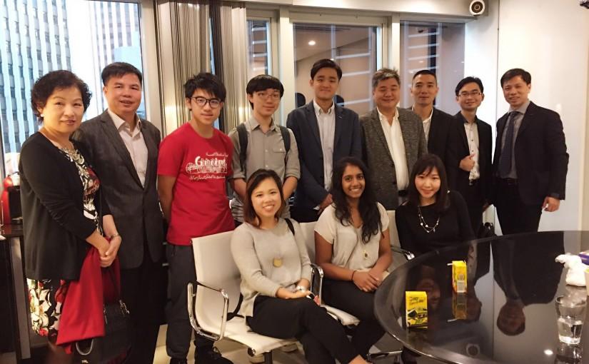 參觀香港十大傑出青年黃宏達理事的電影製作公司